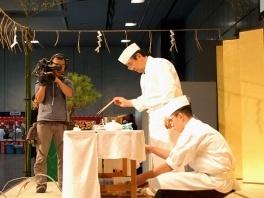 恒例の京料理教室。講師はたん熊北店 栗栖正博氏。