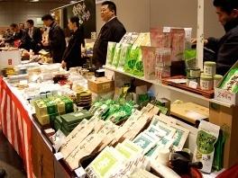 勝藤屋今井ブース。お茶も販売しています。