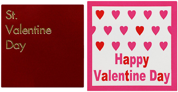 左:00-15517-356 St.ValentineDay SK-813 右:00-15517-357 HappyValentineDay SK-814