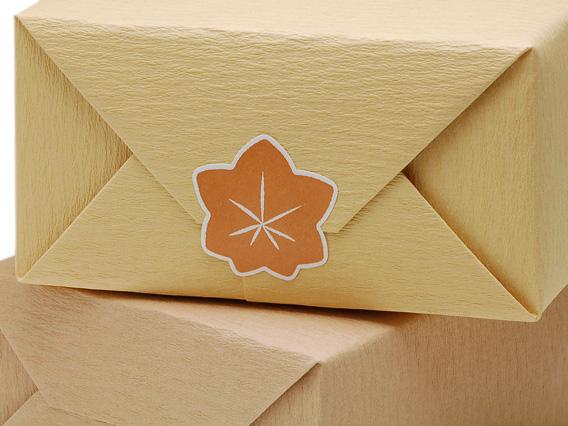 和のかたちシール 紅葉 大 ※箱・包装紙は参考商品です。