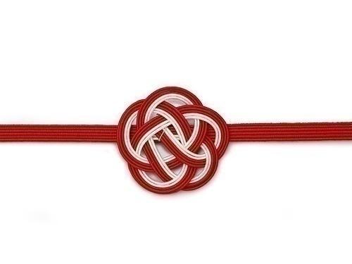 水引飾りゴム 梅むすび 紅白 21cm、26cm