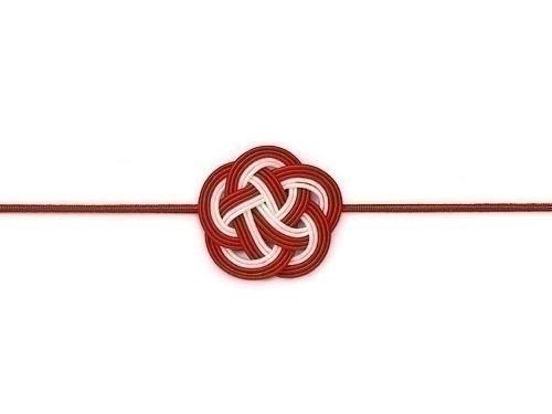 水引飾りゴム 梅むすび 紅白 12cm、16cm