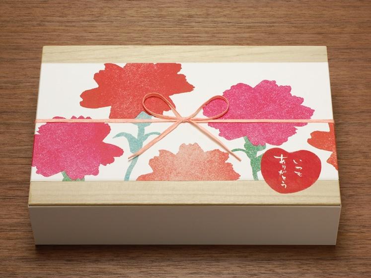 母の日用掛紙ミニ幅広サイズ「mother's garden」使用例