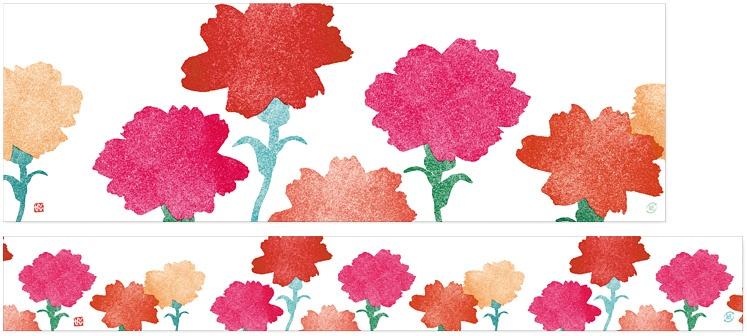 mother's garden 掛紙ミニ幅広サイズと帯紙の全体図