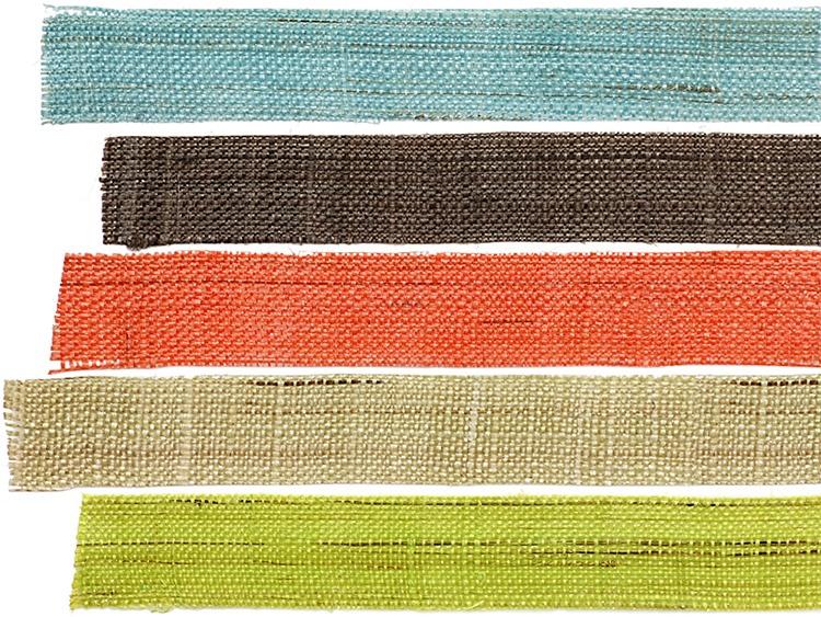 手織り麻のテープ