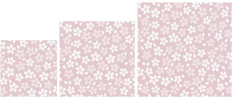左から、3寸(9cm角)、4寸(12cm角)、5寸(15cm角)の3サイズ