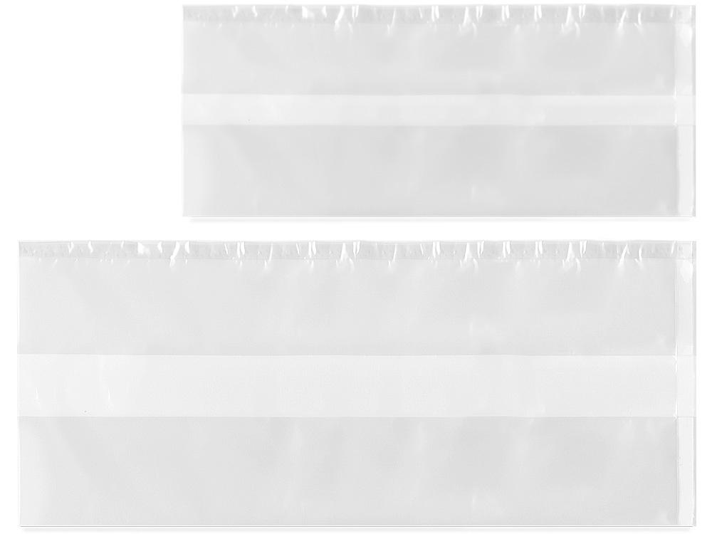上:00-13414-335 シフォンケーキ 無地ガゼット袋 小 透明、下:00-13414-336 シフォンケーキ 無地ガゼット袋 大 透明