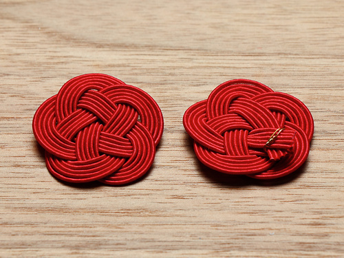 07-18499-002 水引飾り 梅むすび 赤 小