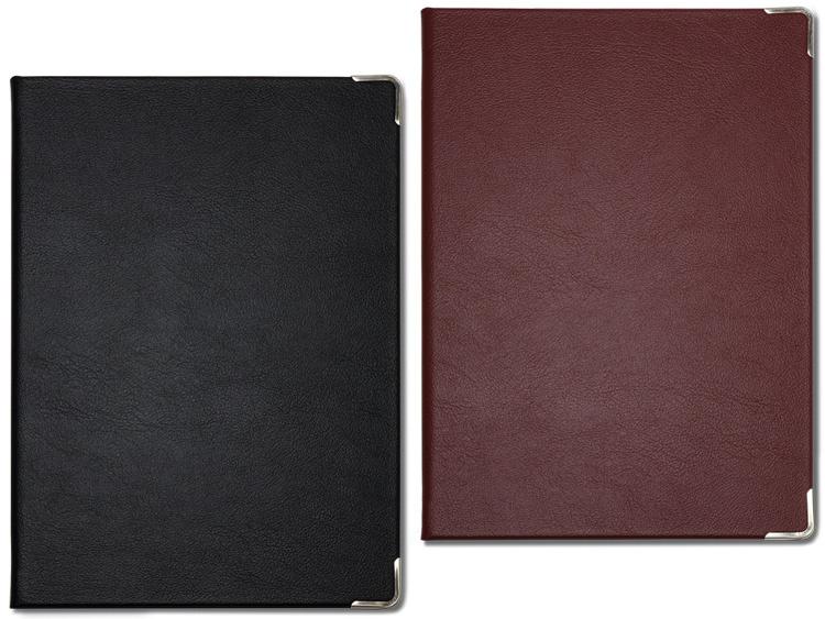 左より、00-41408-201 メニューブック KAT-101 黒、00-41408-202 メニューブック KAT-101 赤