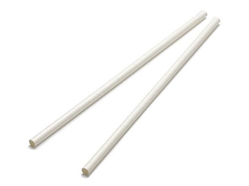00-13117-138 ペーパー ストレートストロー 中国製 白 裸