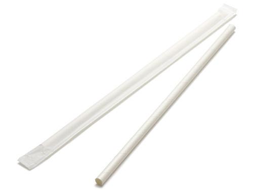00-13117-137 ペーパー ストレートストロー 中国製 白 単袋