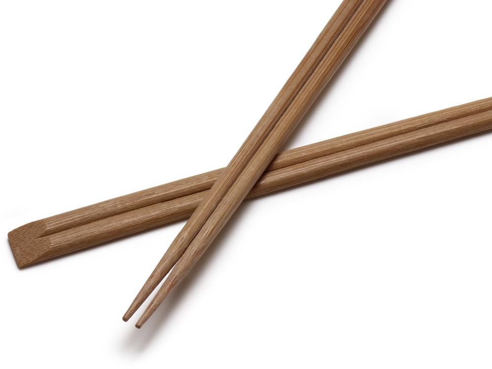 00-11303-098 割箸 炭化竹天削 24cm 先細