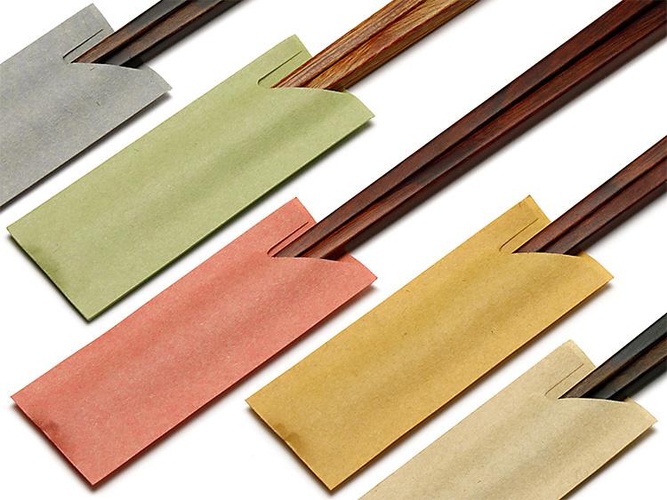 箸袋(ミニハカマ)先細箸用 左上から、ねず、もえぎ、ももはな、やまぶき、きなり