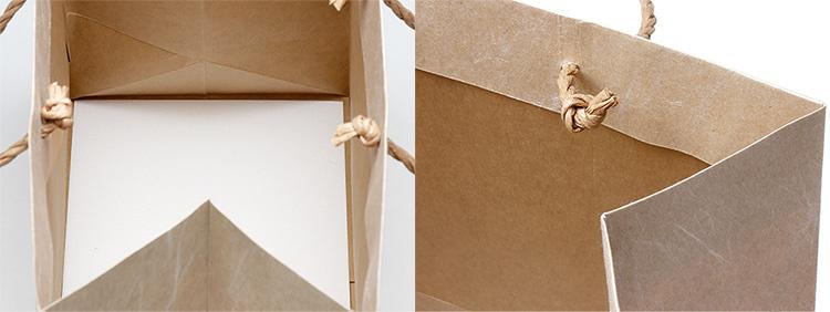 底台紙は本体に糊付け。内側はクラフト紙そのまままの風合いになります。