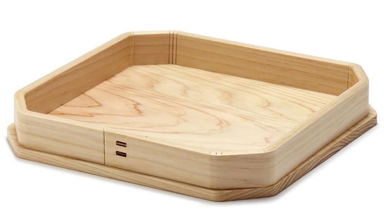 材質:檜 外寸:約187×187×高さ28mm