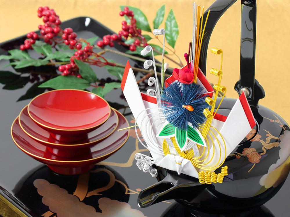 00-15308-506 慶弔品 銚子飾り ※写真の屠蘇器は取扱っておりません。