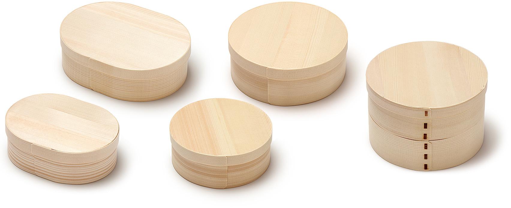 経木曲物の全サイズ商品一覧画像