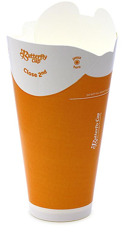 バタフライカップ 16オンス コールドシングル(オレンジ)の画像