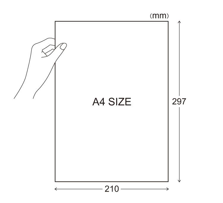 自由にカットしてお使いいただけるA4サイズラベルのイラスト