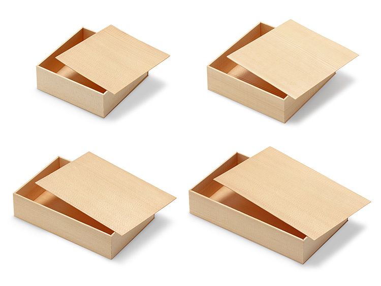 経木折4種類の画像