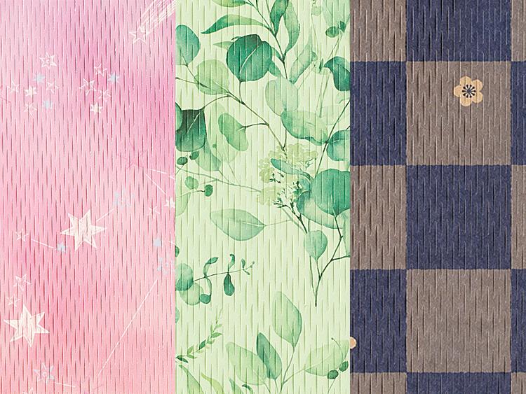 デザインクッションペーパー 25×30cm ドリーミー、リーフ、市松の拡大画像