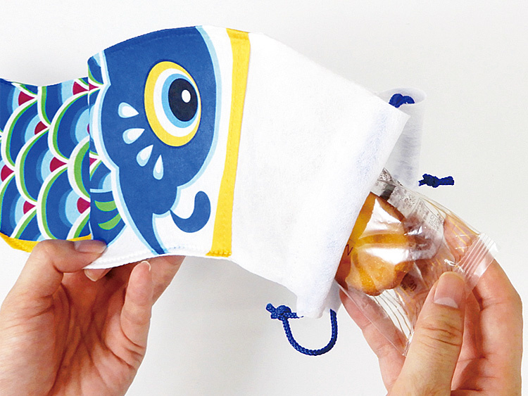 不織布巾着袋 こいのぼりの使い方画像