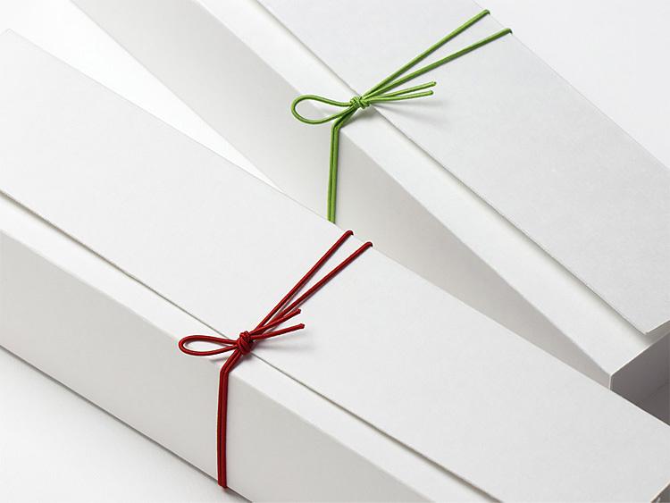 彩宝ゴム 二重巻松葉結び からくれない8cmとうぐいす8cmの使用イメージ画像