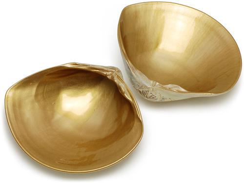00-18514-201 貝殻 はまぐり金塗 大 2枚合せ