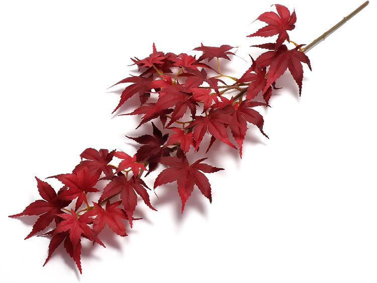 00-18502-196 造花 モミジS 赤の画像