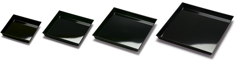 ニシキ角皿黒4サイズのバリエーション画像