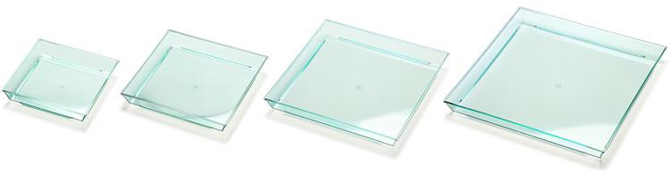 ニシキ角皿エメラルドグリーン4サイズのバリエーション画像