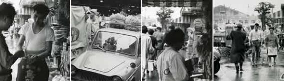 昭和30年代の勝藤屋今井商店と市場周辺