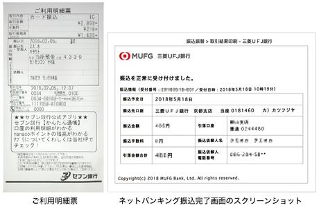 銀行振込の領収書代用書類